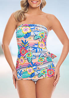Summer Fest Bandeau Sarong One Piece Swimsuit Collection