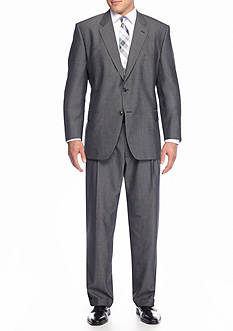 Saddlebred® Big & Tall Classic Fit Black & White Tic Suit Separates