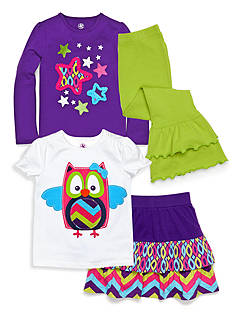 J Khaki™ Owl and Print Collection Toddler Girls