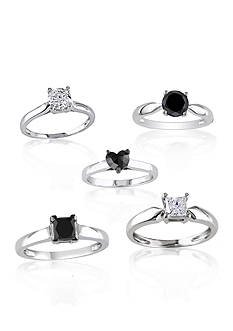 Belk & Co. Solitaire Black & White Fine Jewelry Collection