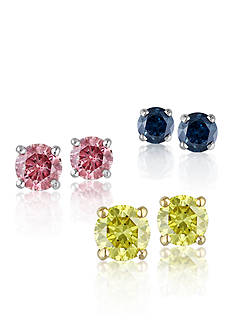 Belk & Co. Colored Diamond Stud Fine Jewelry Collection
