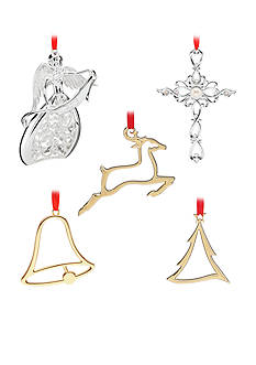 Lenox® Sliver and Gold Christmas Ornament Collection