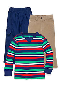 J Khaki™ Trains & Stripes Collections Boys 4-7