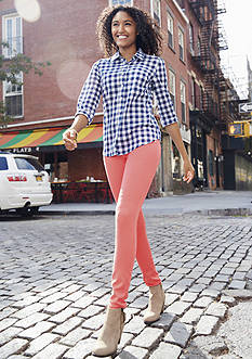 Gingham Shirts and Color Jeans