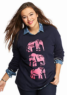 crown & ivy™ Plus Size Sweatshirt Collection