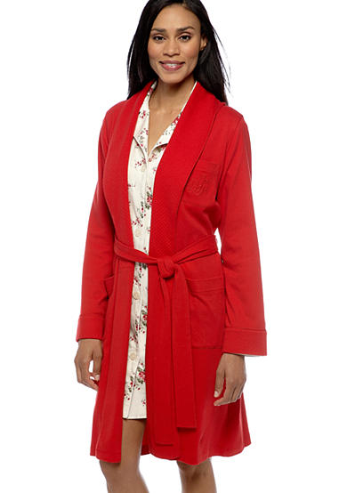 Lauren Ralph Lauren Shawl Wrap Robe & Classic Notch Collar Sleep Shirt