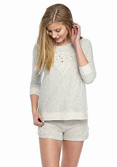 Lucky Brand French Terry Crew Neck Top & French Terry Short