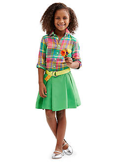 Ralph Lauren Childrenswear Preppy Plaid Collection Girls 4-6x