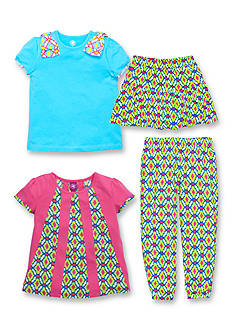 J Khaki™ Mix & Match Challis Trellis Collection Girls 4-6x