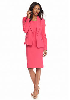 DN Designs by Danny & Nicole Notch Collar Jacket and Sleeveless Sheath Dress