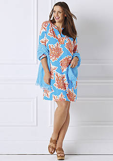 crown & ivy™ Plus Size Coral Reef Print Collection