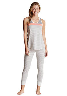 Lucky Brand Coral Stripe Heathered Collection