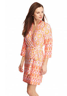 New Directions® Intimates Diamond Ikat Coral Chemise & Robe