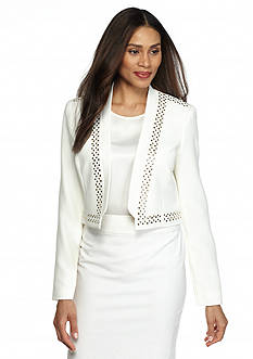 Kasper Studded White Suit Collection