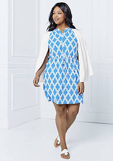 crown & ivy™ Plus Size Marrakesh Medallion Print Collection