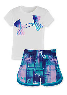 Under Armour® Paint Plaid Collection Girls 4-6x