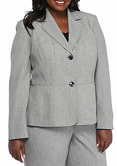 Kasper Plus Size Gray Pant Suit