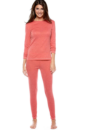 Cuddl Duds Thin Layer Long Sleeve Crew & Thin Layer Pant - Online Only