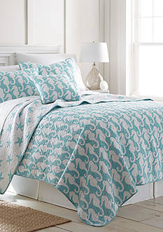 Elise & James Home Seahorse Reversible Quilt Collection