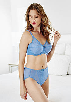 Wacoal Retro Chic Full Figure Underwire Bra & Hi-Cut Brief