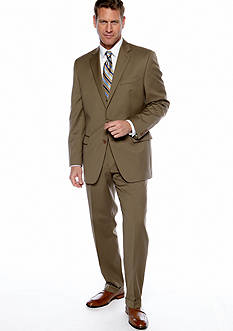 Lauren by Ralph Lauren Tailored Clothing Classic Fit Tan Solid Suit Separates