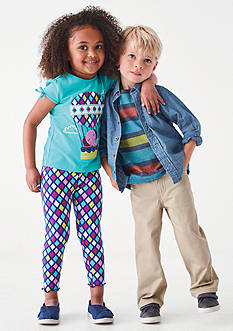 J Khaki™ Mix & Match Diamond & Stripe Collection Toddler Girls and Toddler Boys