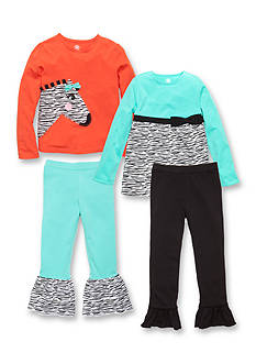J. Khaki® Mix & Match Zebra Collection Girls 4-6x