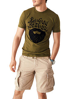 Red Camel® Short Sleeve Let It Grow Graphic Tee & Solid Ripstop Belted Cargo Shorts