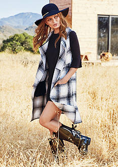 The EDIT: BCBGeneration Plaid Vest & Flare Sleeve Dress Collection