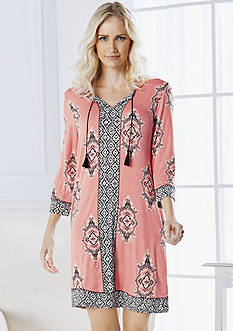 Ellen Tracy Printed Tunic, Caftan Pajama Set & Long Sleeve Chemise