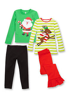 J. Khaki® Mix & Match Santa & Reindeer Collection Girls 4-6x