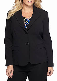 Nine West Plus Size Black Pant Suit