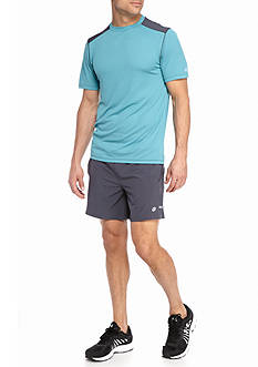 Short Sleeve Run Crew and 6-in Running Shorts