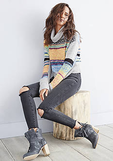 Free People Thick Knit Sweater Collection