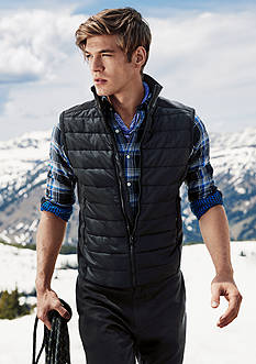 Polo Ralph Lauren Plaid Double-Faced Sport Shirt, Paneled Full-Zip Vest & Modal-Pima Jogger Pants Collection