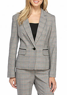 Nine West Plaid Pant Suit