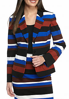 Nine West Striped Skirt Suit