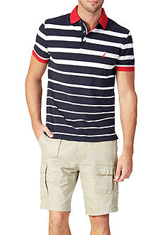 Nautica Classic-Fit Striped Polo Shirt and Modern-Fit Cargo Shorts Collection