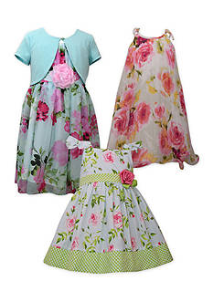 Bonnie Jean Floral Sister Dress Collection Girls 7-16, Girls 4-6x, Toddler Girls and Baby Girls