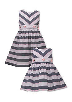 Bonnie Jean Stripe and Flower Sister Dress Collection Girls 4-6x and Toddler Girls