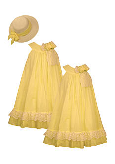 Bonnie Jean Sunhat and Sister Dress Collection Girls 4-6x and Toddler Girls
