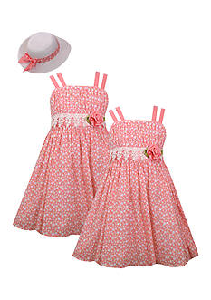 Bonnie Jean Rose Sunhat and Sister Dress Collection Girls 4-6x and Toddler Girls