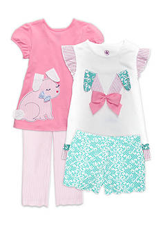 J. Khaki® Mix & Match Funny Bunny Collection Girls 4-6x
