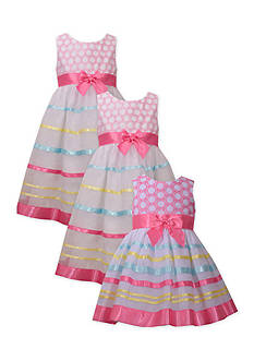 Bonnie Jean Sweetheart Ribbon Sister Dress Collection Girls 4-6x, Toddler Girls and Baby Girls