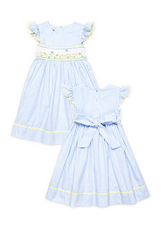 Marmellata Blue Bird Smock Sister Dress Collection Girls 4-6x and Toddler Girls