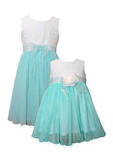 Bonnie Jean Eyelet Ballerina Sister Dress Collection Girls 7-16, Girls 4-6x, Toddler Girls and Baby Girls