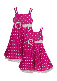 Rare Editions Chiffon Polka Dot Sister Dress Collection Girls 4-6x and Toddler Girls