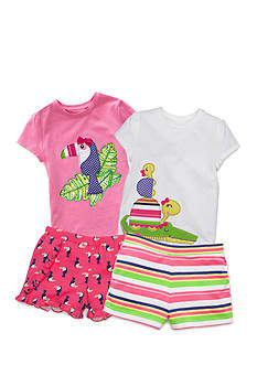 J. Khaki® Mix & Match Tropic Toucan Collection Girls 4-6x