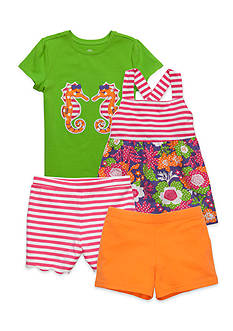 J. Khaki® Mix & Match Striped Seahorse Collection Girls 4-6x