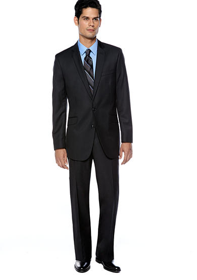 Kenneth Cole Reaction Dark Blue Tic Suit & Calvin Klein Body Slim Fit Dress Shirt